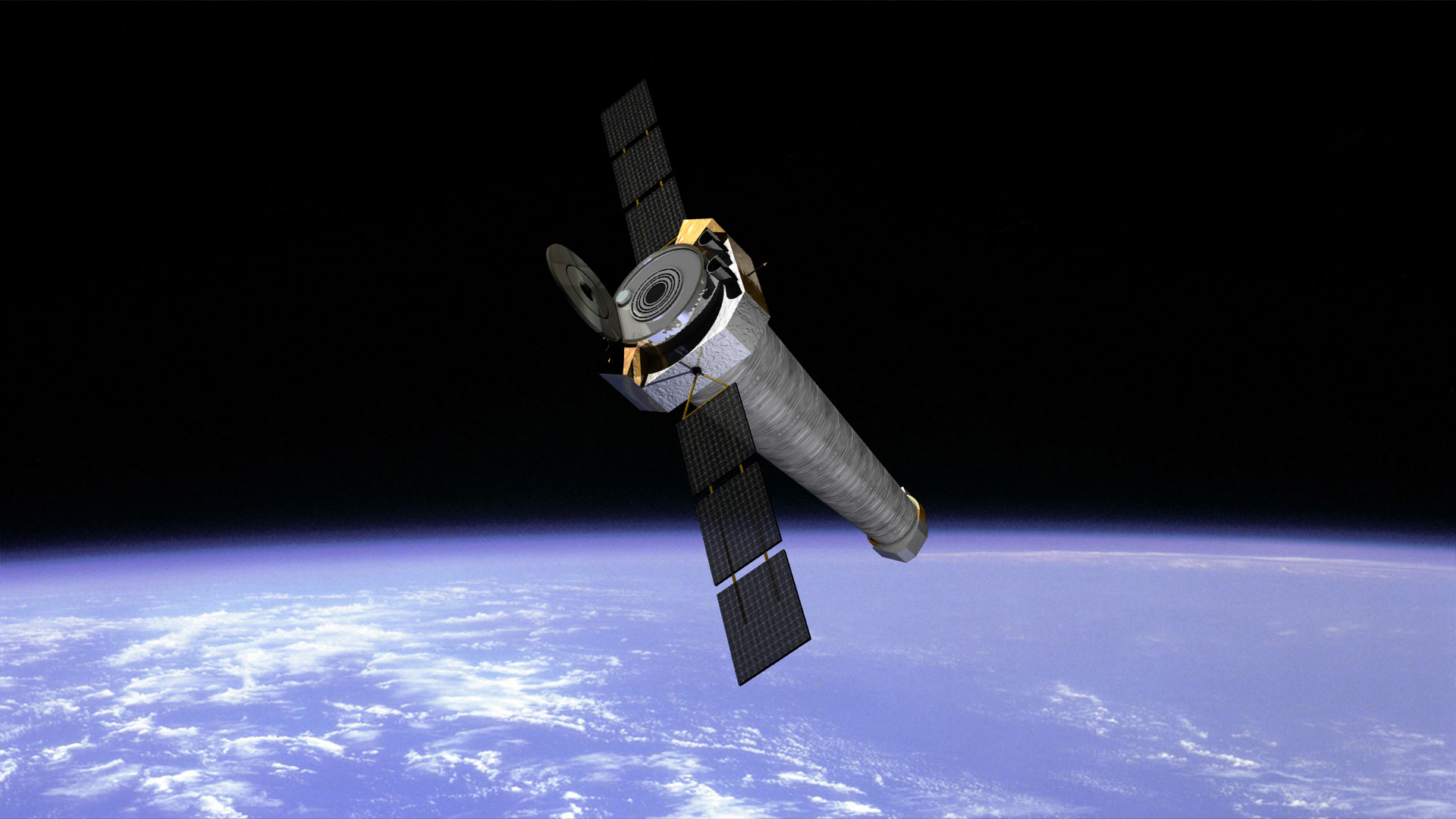Chandra above Earth